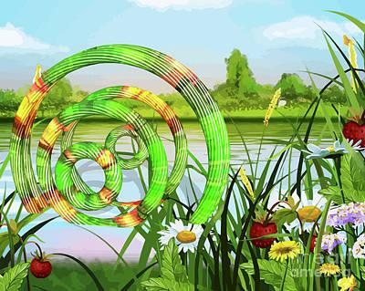 U F O In A River Art Art Print