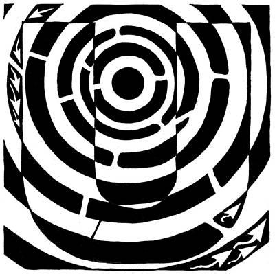 Learn To A Maze Drawing - U-maze by Yonatan Frimer Maze Artist