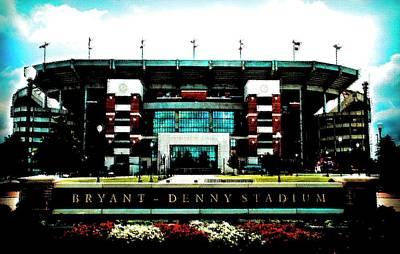 Mixed Media - U Of A Bryant-denny_stadium by DJ Fessenden
