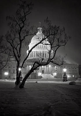Photograph - U. S. Capitol In Winter by Daniel Hagerman