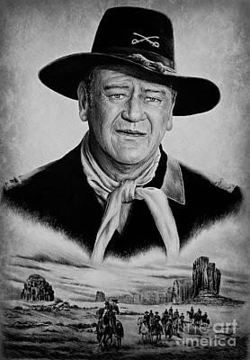 John Wayne Drawings Drawing - U S Cavalry by Andrew Read