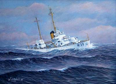 U. S. Coast Guard Cutter Owasco Art Print by William H RaVell III