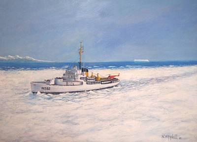 U. S. Coast Guard Icebreaker Northwind Art Print by William H RaVell III