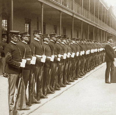 Photograph - U. S. Marines, Mare Island Navy Yard 1898 by California Views Archives Mr Pat Hathaway Archives
