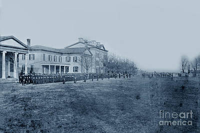 Photograph - U. S. Naval Academy Annapolis, Maryland  1870 by California Views Mr Pat Hathaway Archives