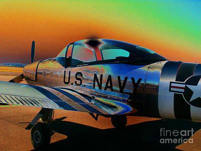 U S Navy  Art Print by Diane E Berry