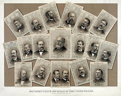 U. S. Newspaper Publishers 1885 Art Print