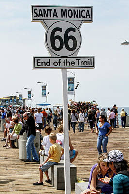 Photograph - U. S. Route 66 - End Of The Trail by Gene Parks