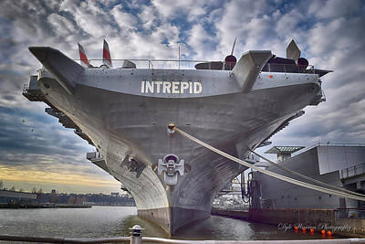 Photograph - U S S   Intrepid's Bow  by Dyle Warren