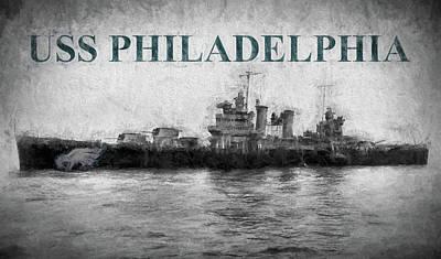 Digital Art - U S S Philadelphia  by JC Findley