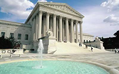Landmark Digital Art - U. S. Supreme Court by Maye Loeser