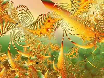 u003 Tropical Mandelreef Art Print