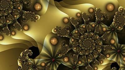 u026-2 Golden Orbs Wop-Wop_a Art Print
