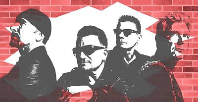Irish Rock Band Digital Art - U2 Graffiti Tribute by Dan Sproul