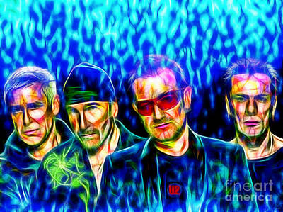 Bono Mixed Media - U2 In Color by Daniel Janda