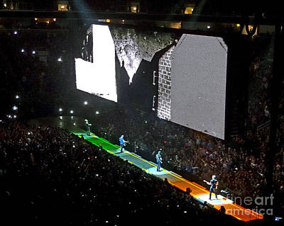 U2 Photograph - U2 Innocence And Experience Tour 2015 Opening At San Jose. 4 by Tanya Filichkin