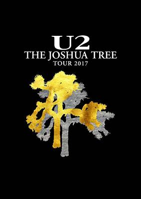 U2 Digital Art - U2 Joshua Tree by Raisya Irawan