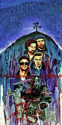U2 Art Print by Ken Meyer jr