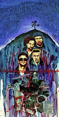 Bono Painting - U2 by Ken Meyer jr