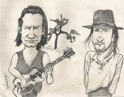 U2 Drawing - U2 The Joshua Tree by German Paredes