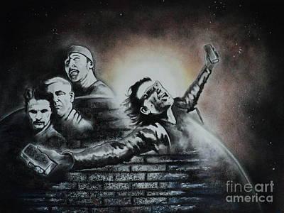 U2 Drawing - U2 The Sun Will Always Rise by Carla Carson