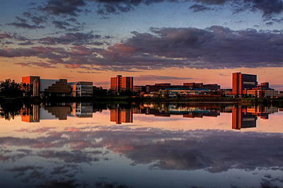 Photograph - Ub Campus Across The Pond by Don Nieman