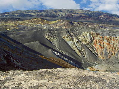 Photograph - Ubehebe Crater by Anthony Dezenzio