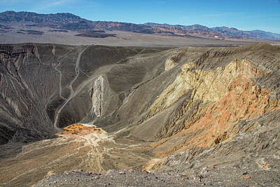Photograph - Ubehebe Crater Death Valley by Michael Bessler