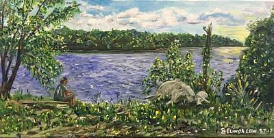 Painting - Ubin My Home by Belinda Low