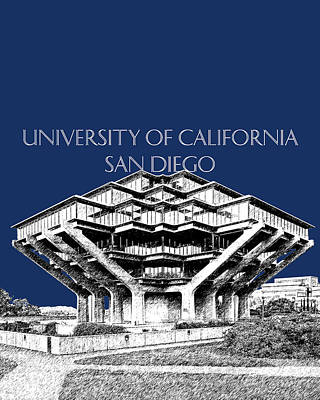 San Diego Digital Art - Uc San Diego Navy Blue by DB Artist