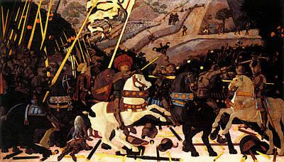 Uccello Paolo Niccolo Da Tolentino Leads The Florentine Troops Art Print by Paolo Uccello