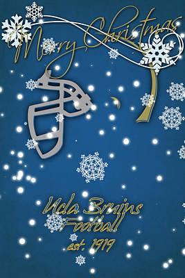 Ucla Bruins Christmas Card Print by Joe Hamilton