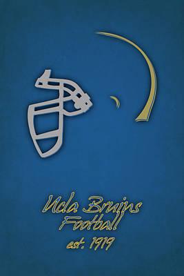 Ucla Bruins Helmet Print by Joe Hamilton