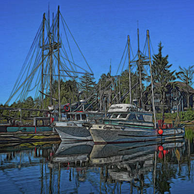Digital Art - Ucluelet Harbor 1 by Richard Farrington