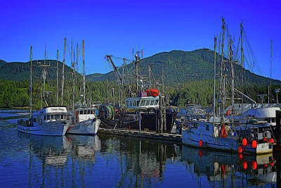 Digital Art - Ucluelet Harbor 2 by Richard Farrington