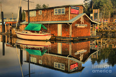 Photograph - Ucluelet Restaurant In The Harbor by Adam Jewell