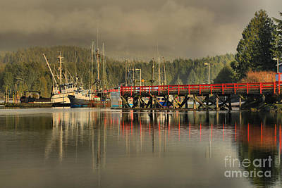 Photograph - Ucluelet Trawlers by Adam Jewell