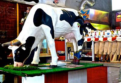 Genoa Bar Photograph - Udderly Unexpected by Amelia Racca