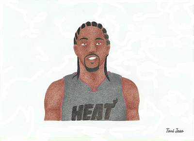 Drawing - Udonis Haslem by Toni Jaso