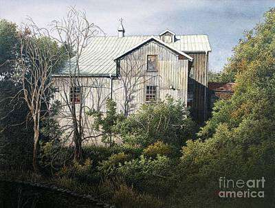 Painting - Udora Mill by Robert Hinves