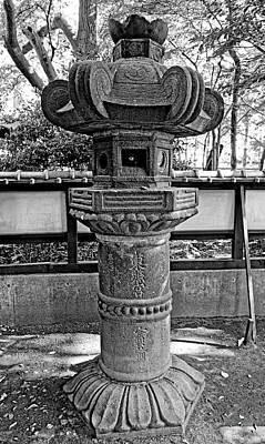 Photograph - Ueno Stone Lantern Still Life by Robert Meyers-Lussier