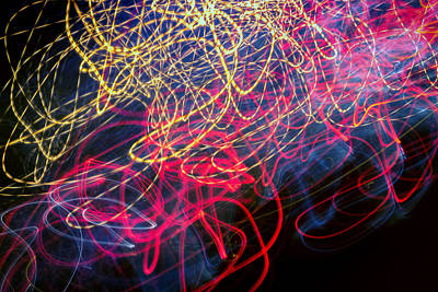 Photograph - Ufa Neon Abstract Light Painting Sodium #1  by John Williams