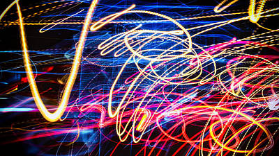 Photograph - Ufa Neon Abstract Light Painting Sodium #3 by John Williams