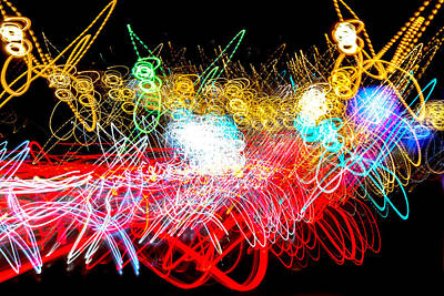 Photograph - Ufa Neon Abstract Light Painting Sodium #4 by John Williams