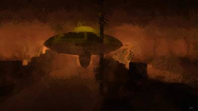 Independence Painting - Ufo Area 51 by Raphael Terra