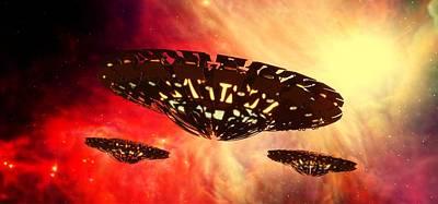 Ufo By Raphael Terra Art Print