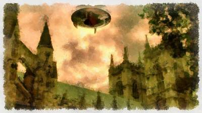Ufo Cathedral Art Print
