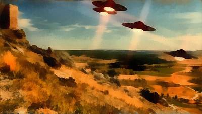 Aliens Painting - Ufo Invasion by Esoterica Art Agency
