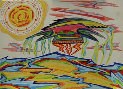 Painting - Ufo Over Jupiter's Ocean by Robert SORENSEN