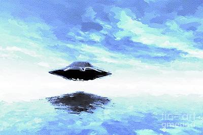 Science Fiction Royalty-Free and Rights-Managed Images - UFO Reflection by Raphael Terra